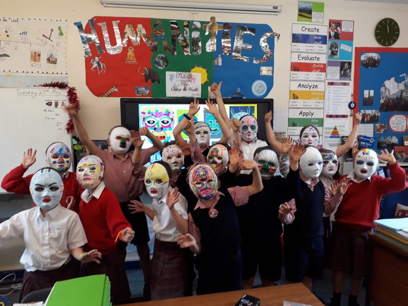 Form 4 Mayan Masks