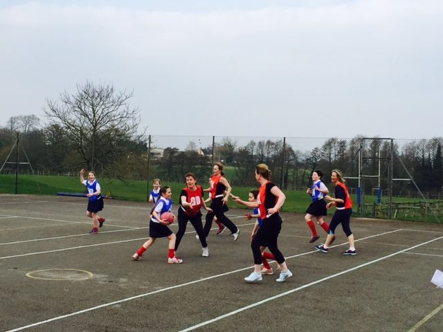 Mums v Daughters Netball Match 2 March 2015